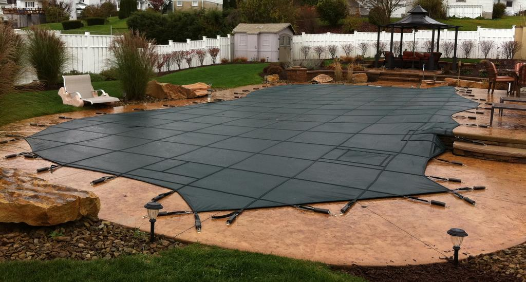 A Safety Cover For Your In Ground Swimming Pool Will Give You Peace Of Mind Throughout The Winter And Make Spring Opening Much Easier