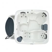 3-4View-LightsOff-TableUp-Cabana2500-WhiteDiamond-GrayPanels-Dream-Maker-spas